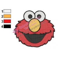 Sesame Street Elmo Face Embroidery Design 02